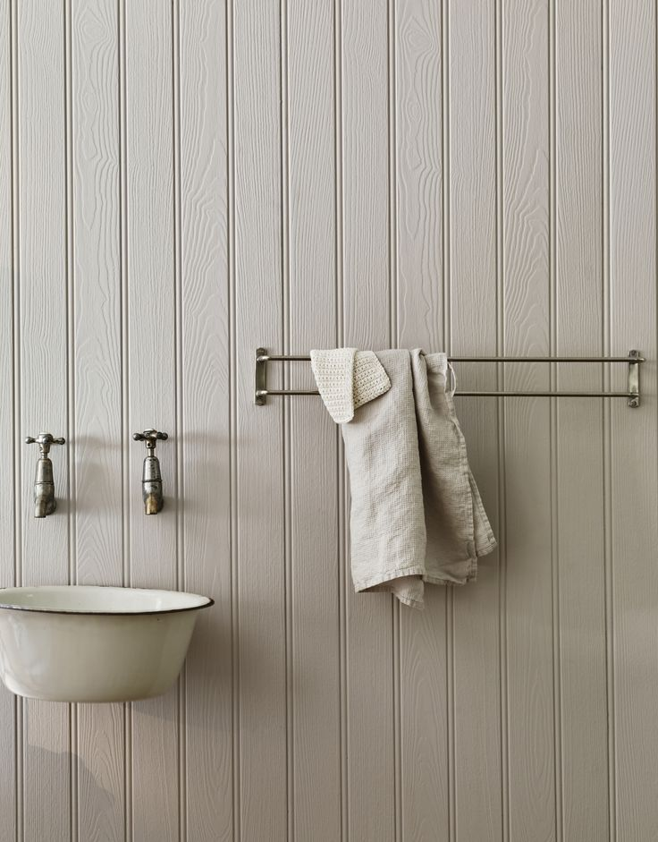 The Bilton Double Towel Rail (£98), shown here in nickel, has a simple but smart design element: One rung juts out farther than the other, creating the space for towels to properly air dry.
