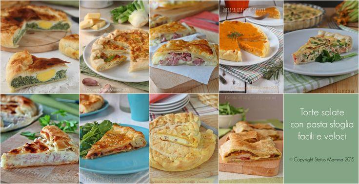 Ricette veloci per arricchire aperitivi e buffet o per occasioni speciali scegliete la vostra preferita tra queste torte gustose!