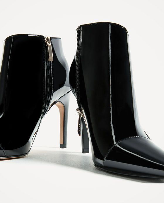 Image 5 of HIGH HEEL PATENT FINISH ANKLE BOOTS from Zara