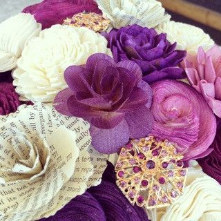 Eco flower. Flowers made of wood! Scented too..great idea for bridal bouqets!!