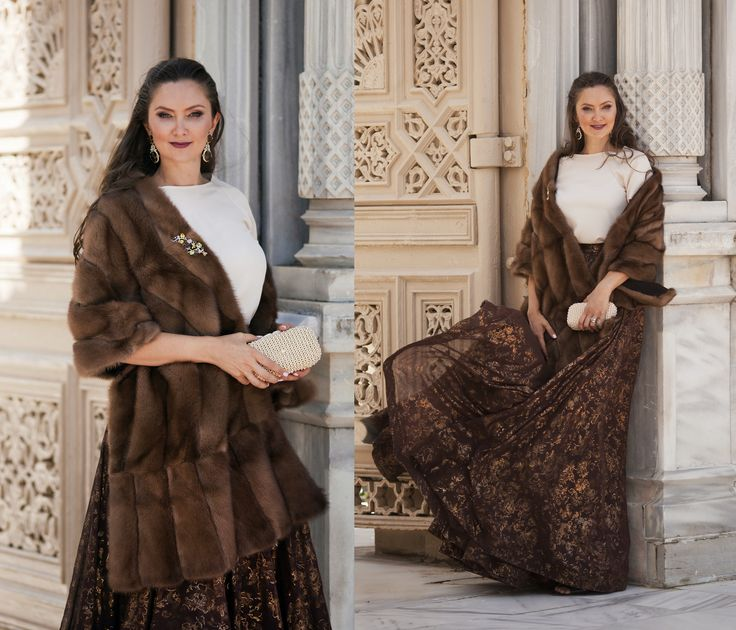 Feel yourself like in real fairy tale with ‪#‎ADAMOFUR‬ shawl collection On photo: brown mink shawl, available at our stores and via What's App  #sableshawl #sablefur #queen #wedding #royal #fur