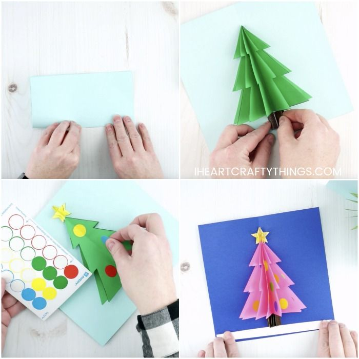 How To Make A 3d Christmas Card 3d Christmas Cards Christmas Cards 3d Christmas Tree Card