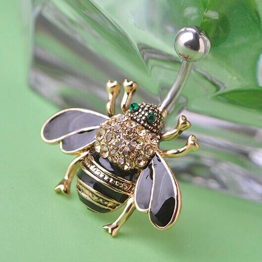 Bumble Bee Navel Belly Button Ring  Belly Button Rings -8378