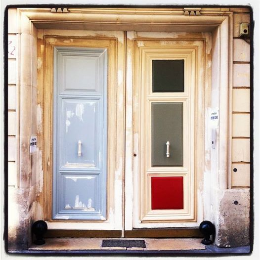 Beautiful Multicolored Doors Paris Belleville Paris
