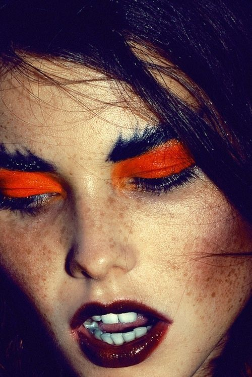 Bright orange.  Urban Decay ELECTRIC PRESSED PIGMENT PALETTE Inspiration