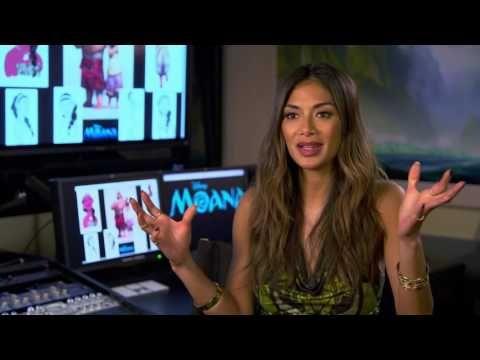 "Moana ""Sina"" On Set Interview - Nicole Scherzinger - YouTube"