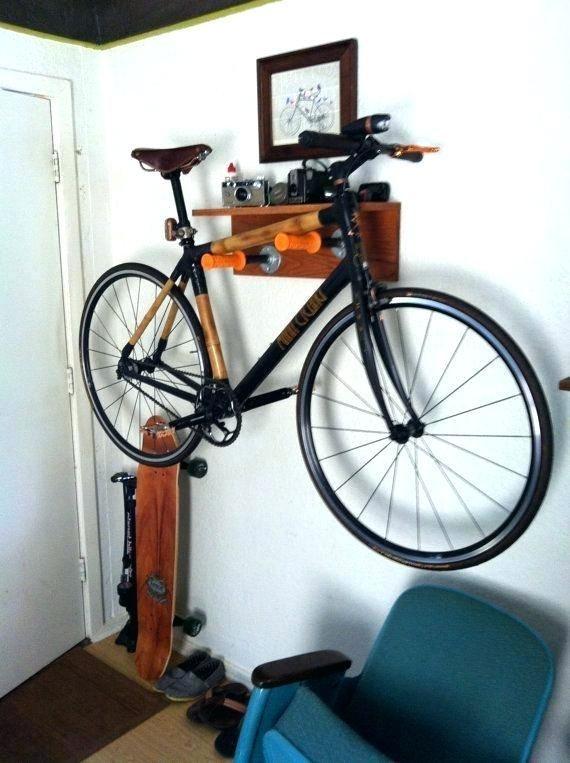 Wall Mounted Bike Rack Diy Wall Bike Mounts Custom Wall Mount Bike
