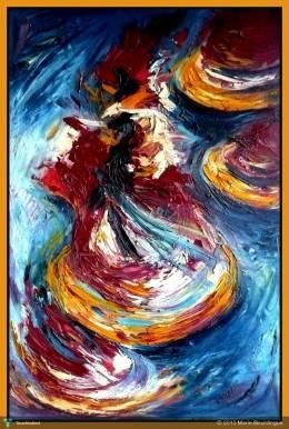 whirling Dervishes #Creative #Art #Painting @touchtalent.com