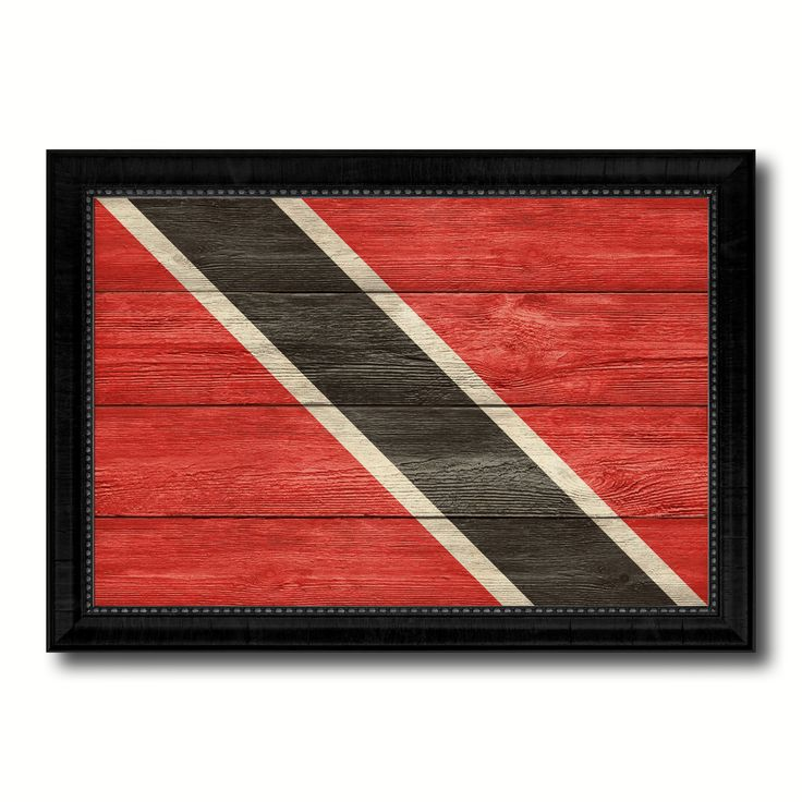 Trinidad Country Flag Texture Canvas Print with Black Picture Frame Home Decor Wall Art Decoration Collection Gift Ideas
