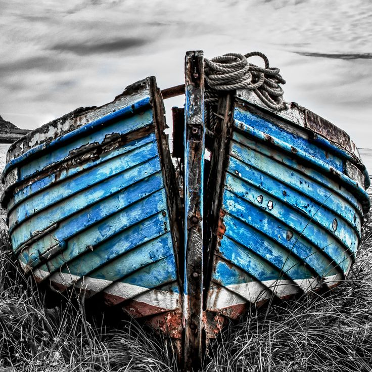 Holy Island Old Fishing Boat by Gary Clark