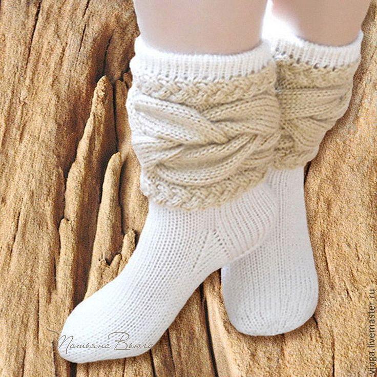 Купить Душа дерева. Носки шерстяные, вязаные, обувь для дома. - носки вязаные, Носки шерстяные