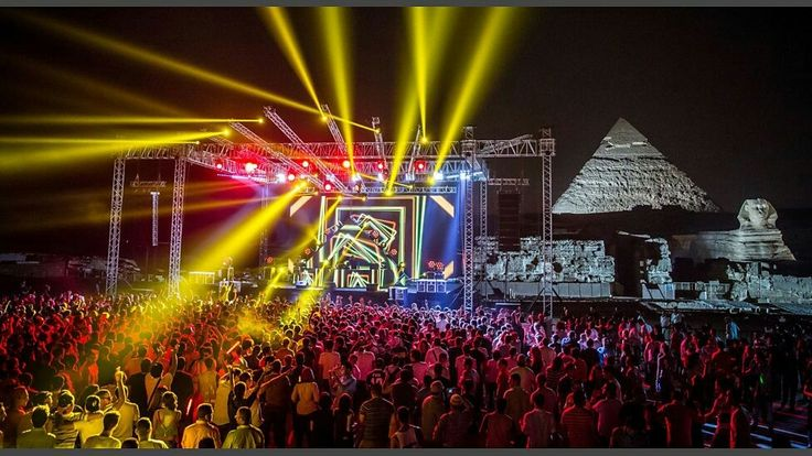 Ancient and modern Egypt's Aly and Fila the legendary Egyptian Trance duo at the Great Pyramids