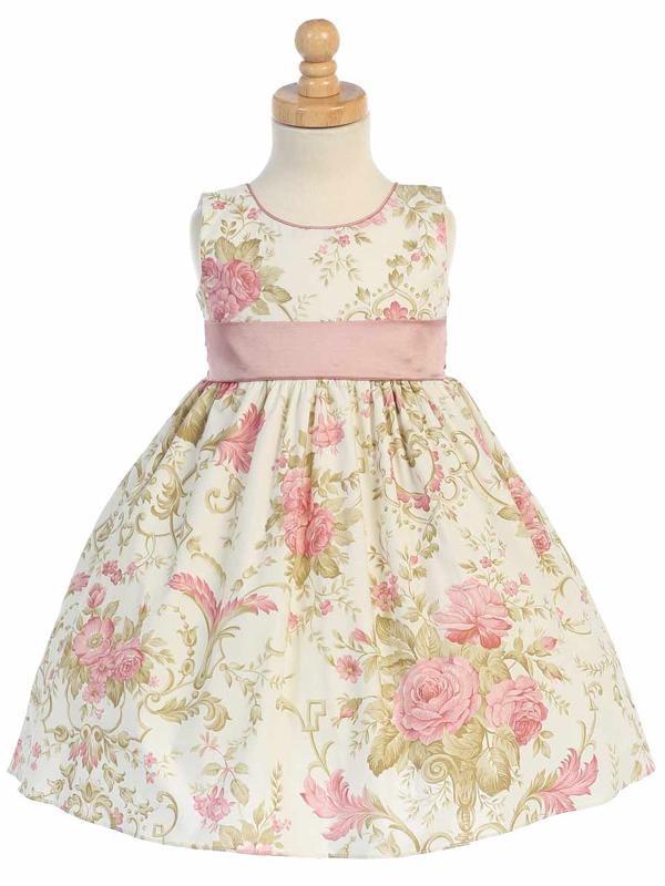 Lito Girls Floral Print Fancy Dress   Toddler Easter Dresses