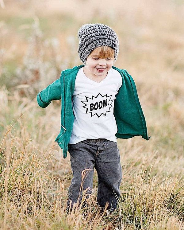 BOOM. Kids Graphic T-Shirt. Use code OFFER20 for 20% off entire order.