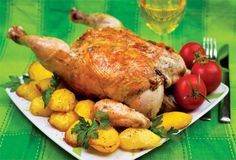 Hungarian recipe - Stuffed chicken. This is not for any one who is counting calories. This stuffing brings out the flavour of chicken, turkey or veal. I am sure that once you taste this it will become a favourite of yours also.