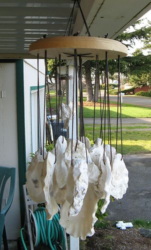 oyster shell wind chimes❦                                                                                                                                                                                 More