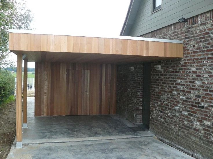 Carport aanbouw hout daniel decadt houten constructies for Modern car ports