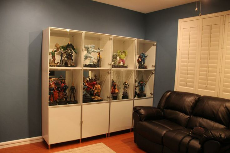 ikea display case for sideshow collectibles page 4 statue forum statue cabinet ideas. Black Bedroom Furniture Sets. Home Design Ideas