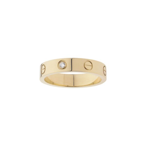 Yellow gold, diamond (7.715 BRL) ❤ liked on Polyvore featuring jewelry, rings, cartier, diamond, jewels, gold diamond jewelry, gold jewelry, diamond jewelry, gold ring and gold diamond rings