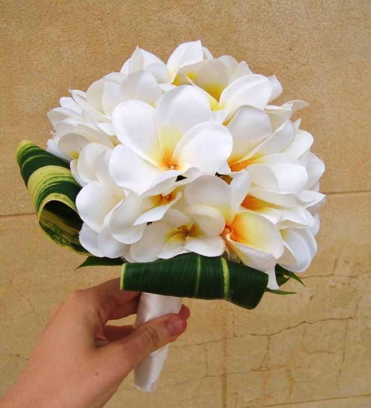 Frangipani flower bouquet - smaller bouquet for the girls (if they want one)