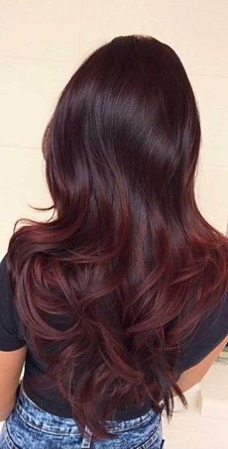 25+ Burgund Rot Haarfarbe Ombre Stil, Balayage, Pe…