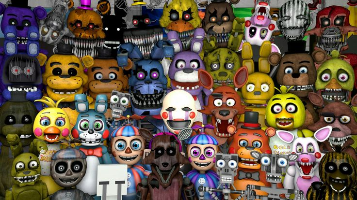 All Animatronics In One Place Enjoy ;) We Still Need Models For Paper  Freddy And Paper Bonnie Because No One Knows They Will Appear In FNAF World.