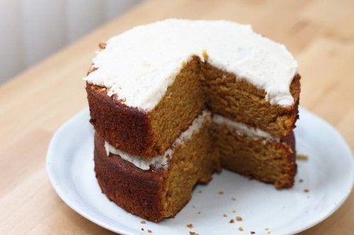 Pumpkin Cake with Brown Butter Frosting   Dessert Porn   Pinterest
