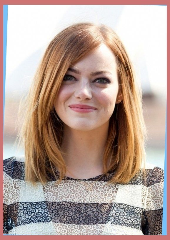 Long Bob Hairstyle For Round Faces Emma Stone Hairstyles With Long Pageboy Haircut