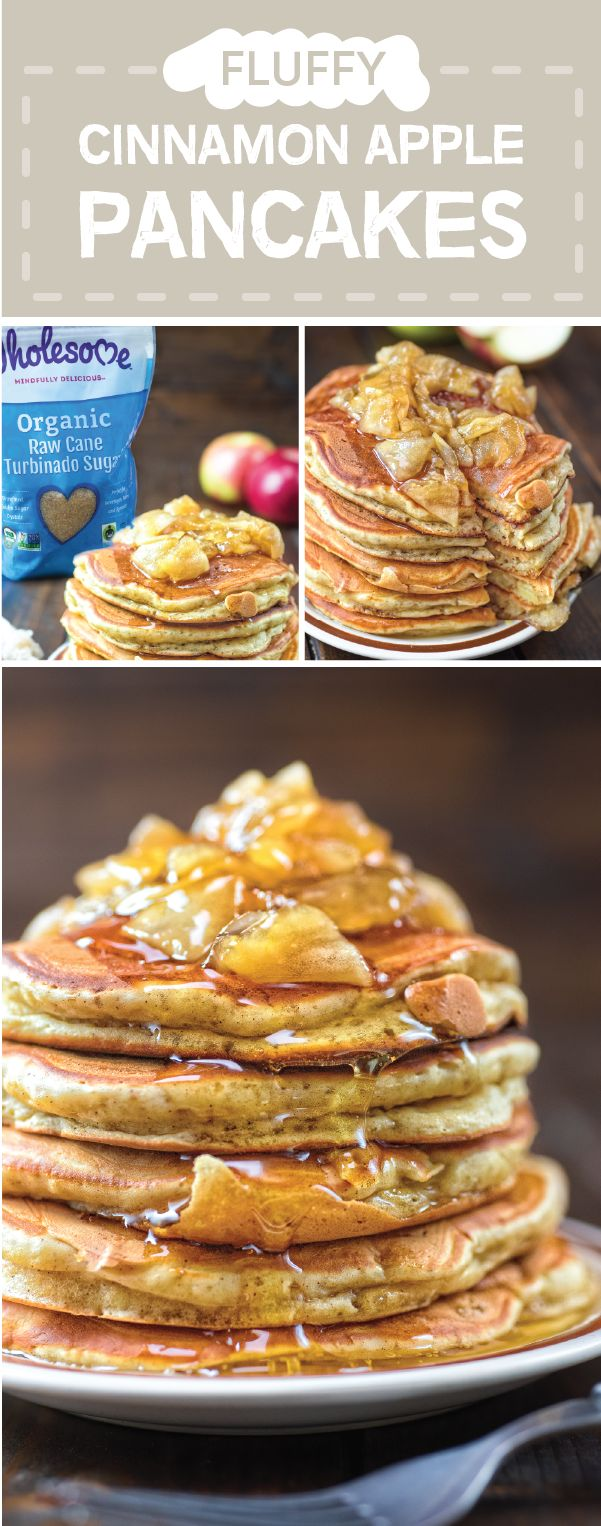 We can never have too many occasions to serve up seasonal sensations featuring organic ingredients like Wholesome Organic Raw Cane Turbinado Sugar. And this recipe for Fluffy Cinnamon Apple Pancakes is no exception! Whether you're hosting holiday houseguests or are looking for a Christmas morning dish, this stack of cozy pancakes is sure to be a hit with your family.