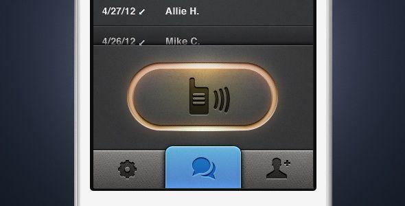 walkie talkie - ios app ui button