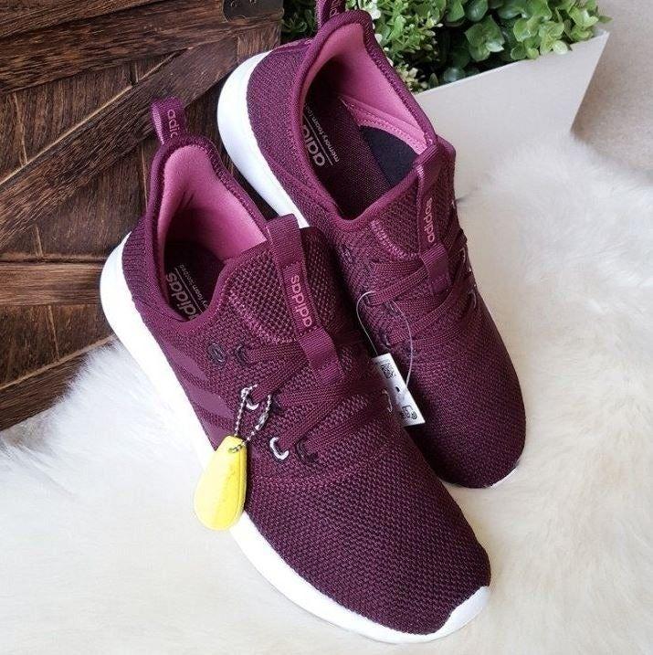 Maroon shoes, Adidas cloudfoam