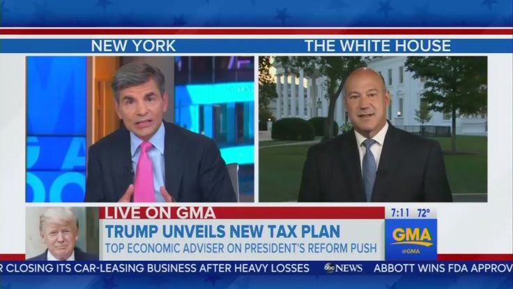 """Thursday on Good Morning America, anchor George Stephanopoulos repeatedly pressed top economic advisor to President Trump, Gary Cohn, to """"guarantee"""" that Trump's new tax plan wouldn't give tax breaks to the wealthy, including specifically the President himself. In his usual fashion, Stephanopoulos aggressively confronted the Republican White House official on who would benefit from the president's policy, while taking a soft approach on the same topics just four, and eight years earlier…"""