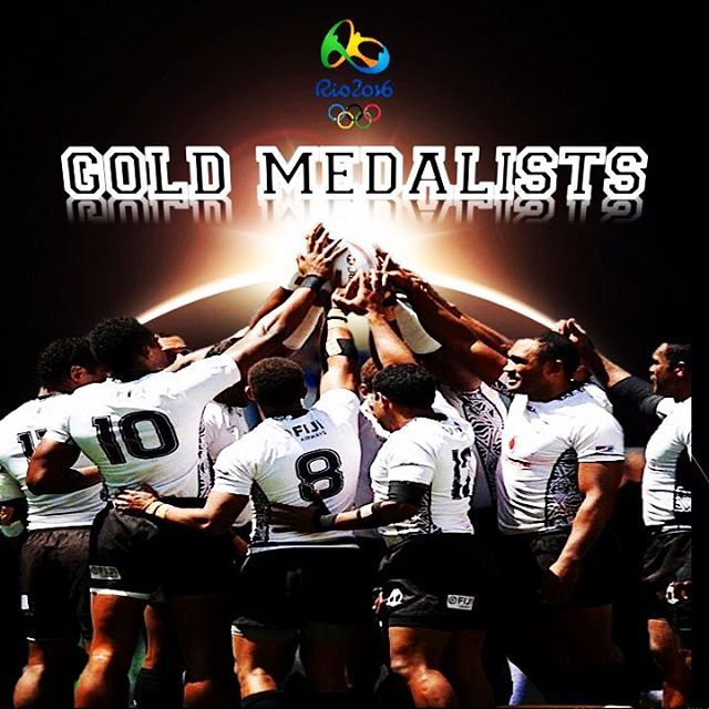 Fiji have made history today!! Not only a Gold Medal in men's Rugby 7s but the first ever Olympic medal for Fiji. A well deserved win and a huge congratulations to the national squad.  #olympics #rio2016 #rugby #rugbygram #rugby7s #photooftheday #goldmedal #champions #fiji #olympics2016 #sports