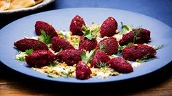 Beetroot Kibbeh with Smoked Yoghurt Sauce
