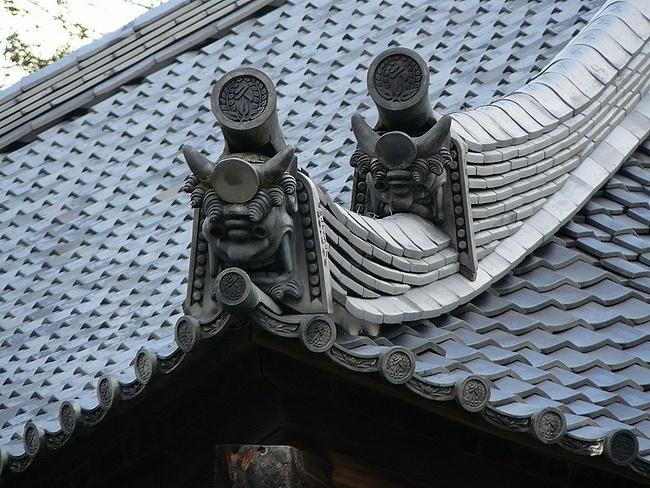 萬福寺 本堂の屋根瓦