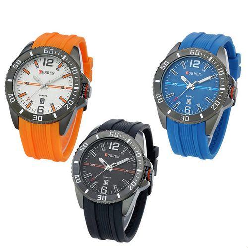 curren watches men fashion calendar silicone Sports Watch