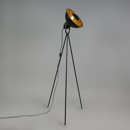 Lampa podłogowa Magna Eco czarna ze złotym
