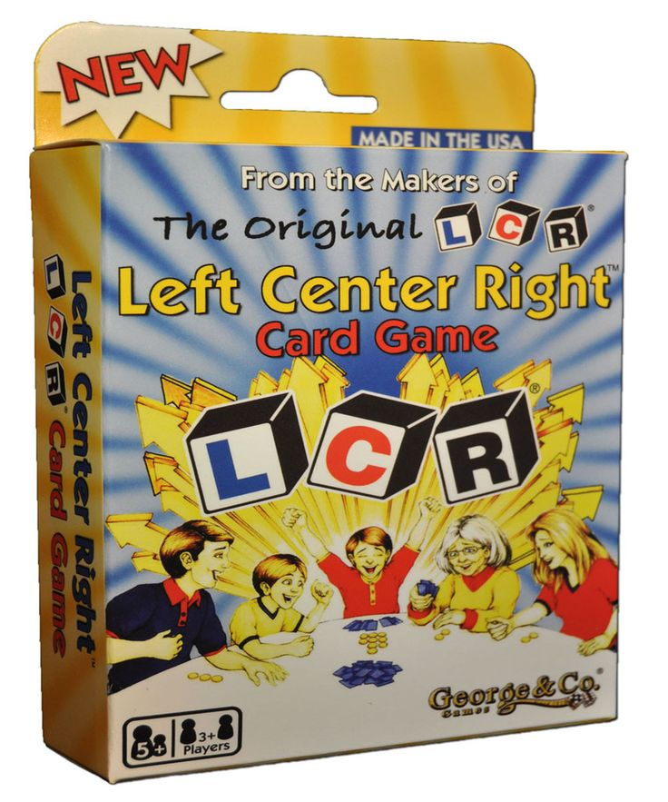 Lcr left center right card game card games fun games