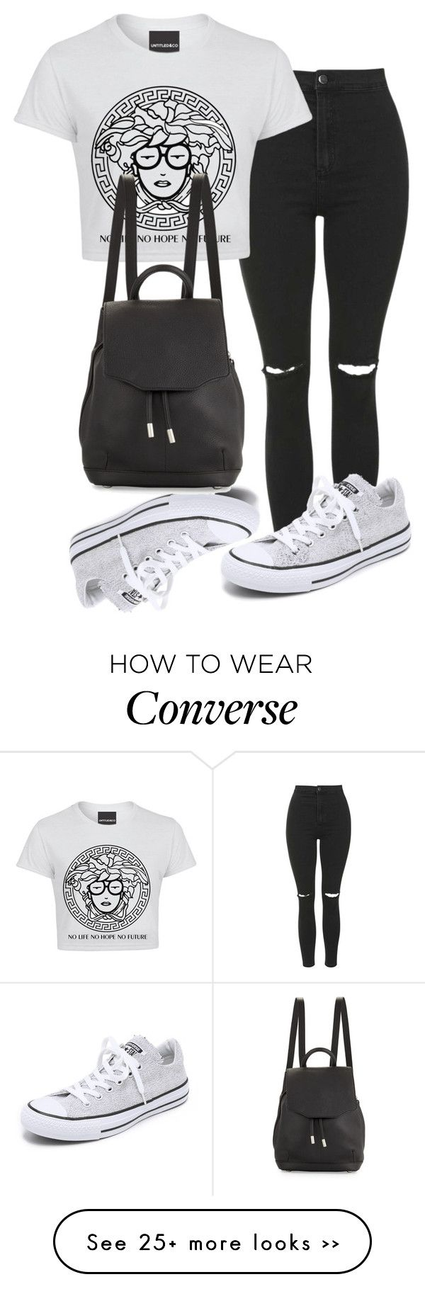 """."" by adorci02 on Polyvore featuring Topshop, Converse and rag & bone"