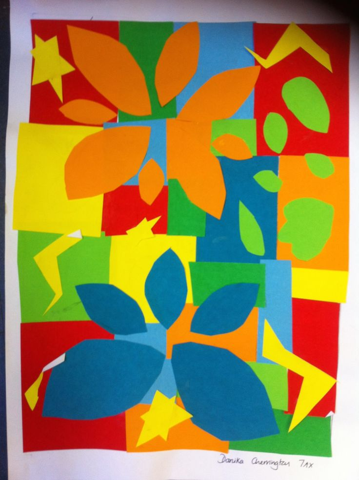 Matisse style cut out design