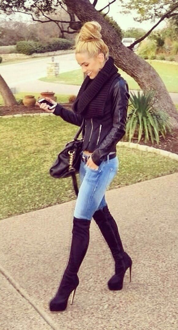 27 Best images about Knee High Boots on Pinterest | Winter fashion ...