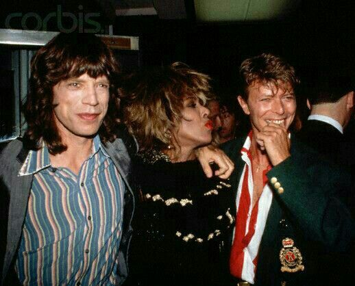 Mick Jagger and Tina Turner and David Bowie