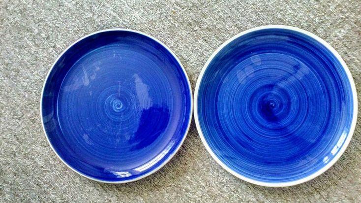 Whittard of Chelsea Blue Hand Painted Dinner Plates 27 cm x 2 #WhittardofChelsea #Contemporary