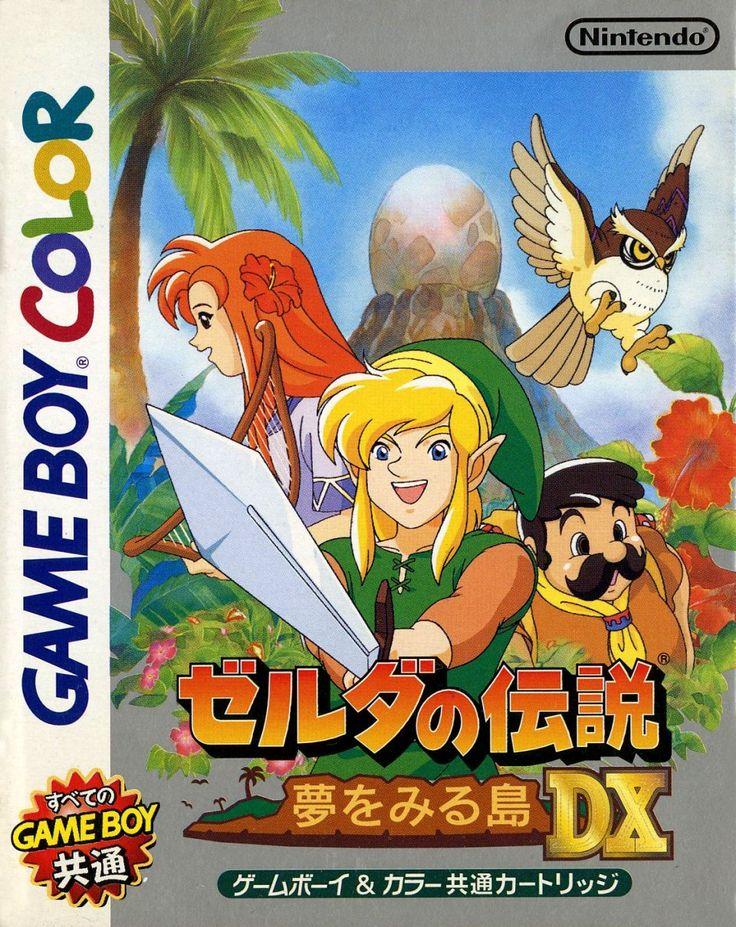 Links Awakening DX Game Boy box (front only)