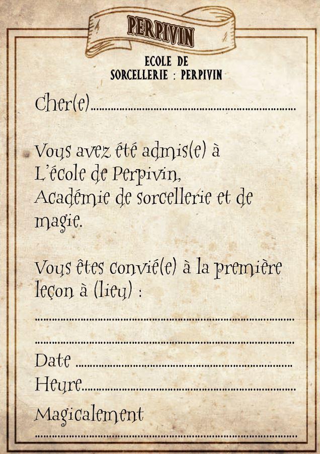 invitation a imprimer harry potter pour