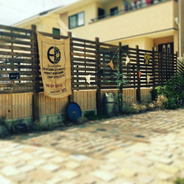yuuu9さんの、玄関/入り口,庭,green,ガーランド,アプローチ,ジャンクガーデン,ウッドフェンス,手作りの庭,F45yoshiさん,のお部屋写真