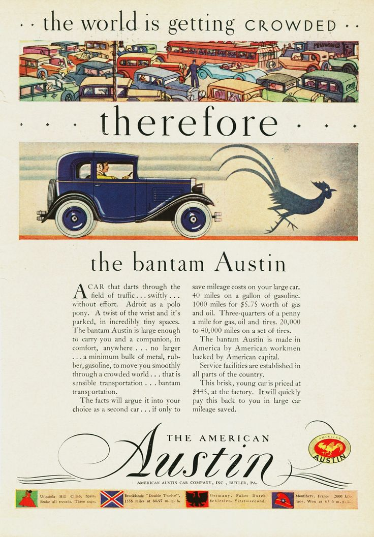 18 best American Austin/Bantam Car Ads images on Pinterest   Austin ...
