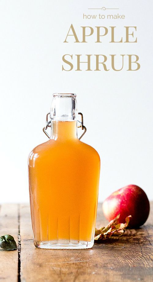 Apple Shrub recipe {via hearbeet kitchen blog}