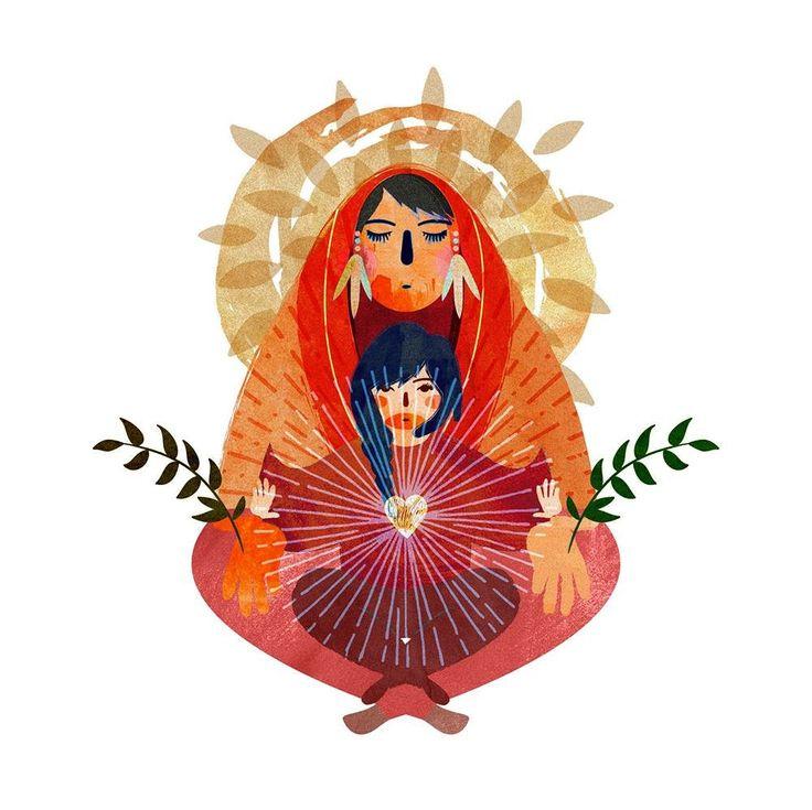 Gracias a todas las encarnaciones de nuestra madre tierra #originalart #picoftheday #instagood #arte #art #womanartist #ilustracion #illustration #menstruacion #mexico #luna #feminism #feminismo #brujas #diosa #godess #redmoon #nature #naturaleza #raiz #enraizada #empoweringwomen #empowering #mujermedicina #mothersday #diadelamadre #mama