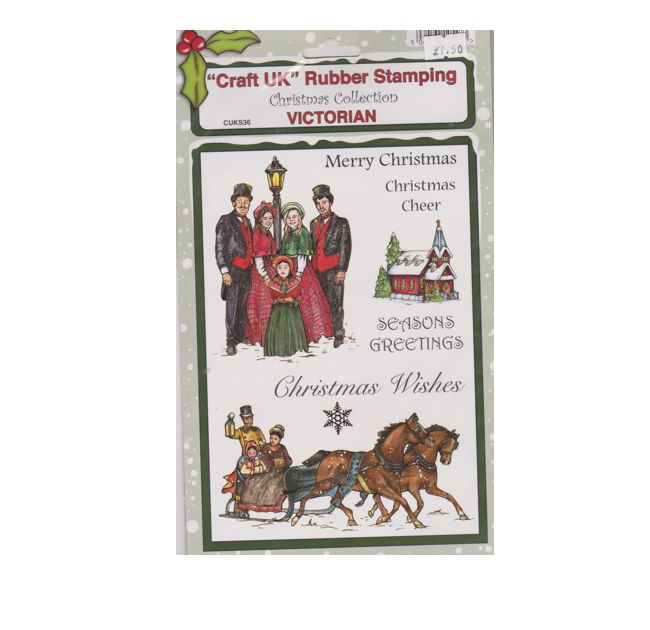 Craft UK Rubber Stamping  Christmas Collection  Victorian